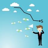 Businessman failure finance Stock Photography