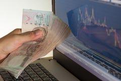 Businessman failure in stock market Stock Photos