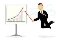 Businessman fairy Stock Images