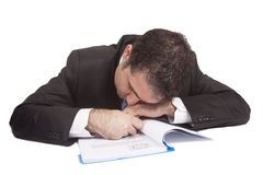 Businessman fall asleep  Stock Photo