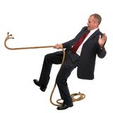 Businessman falling Royalty Free Stock Photos
