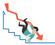 Businessman falling Stock Image
