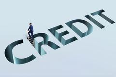 The businessman falling into trap of borrowing debt and credit Stock Photos
