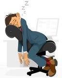 Businessman falls asleep. Vector illustration of a businessman falls asleep Royalty Free Stock Image