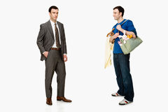 Businessman and father Stock Image