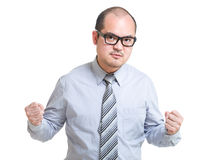 Businessman feel angry Royalty Free Stock Images
