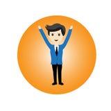 Businessman feel happy Stock Image