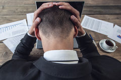 Businessman feel headache Royalty Free Stock Image