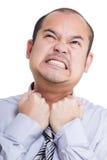 Businessman feel suffocate Stock Image