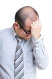 Businessman feeling headache Royalty Free Stock Images