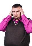 Businessman feels headache Royalty Free Stock Photography