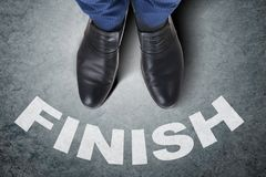 The businessman feet facing difficult choice dilemma. Businessman feet facing difficult choice dilemma Stock Image