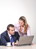 Businessman and female assistant Royalty Free Stock Images