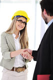 Businessman and female engineer Stock Photography