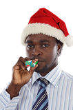 Businessman festive holiday Stock Photography