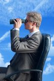 Businessman fieldglasses futur Royalty Free Stock Photos