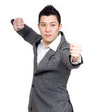 Businessman with fight pose Royalty Free Stock Image