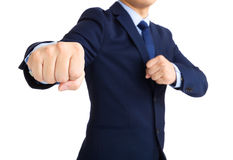 Businessman fighting Stock Photo