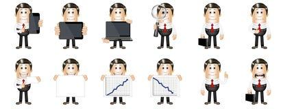 Businessman figure set Stock Photography