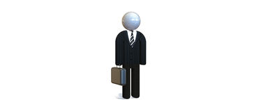 Businessman. A figurine representing a businessman in black suit Stock Photos