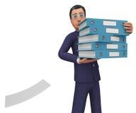 Businessman With Files Shows Answer Businessmen e Corporation illustrazione vettoriale