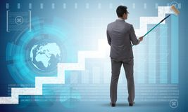 The businessman in financial forecasting business concept Stock Photography