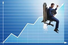 The businessman in financial growth concept Stock Photo