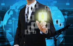 Businessman find  the right person Stock Image