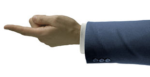 Businessman finger Royalty Free Stock Photos