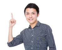 Businessman with finger point up Royalty Free Stock Photography
