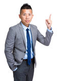 Businessman finger pointing up Royalty Free Stock Image