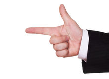 Businessman finger show course Royalty Free Stock Photography