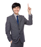 Businessman finger up Royalty Free Stock Photography