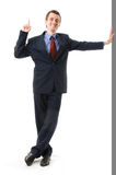 Businessman with finger Up. Sign attention Royalty Free Stock Images