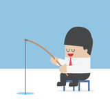 Businessman fishing  Royalty Free Stock Images