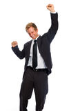Businessman fist pump Stock Photo