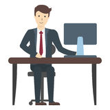 businessman flat Stock Images