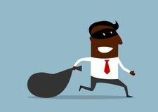 Free Businessman Flees With Stolen Bag Stock Photos - 56382713