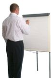 Businessman flip chart. Stock Images