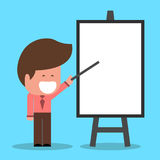 Businessman with flip chart. Separate Vector Objects caucasian ethnicity. Separate Vector Objects caucasian ethnicity Royalty Free Stock Photos