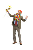 The businessman and flower Royalty Free Stock Images