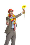 The businessman and flower Royalty Free Stock Image