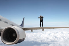 Businessman flying Stock Image