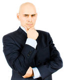 Businessman fold his arms isolated Stock Photo