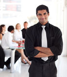 Businessman with folded arms Stock Photography