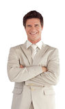 Businessman with folded arms Royalty Free Stock Images