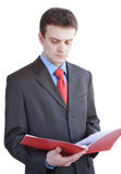 Businessman with folder Royalty Free Stock Photography