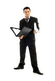 Businessman with folder Royalty Free Stock Photo