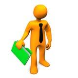 Businessman With Folder Stock Photo