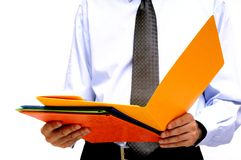 Businessman with folder Royalty Free Stock Images